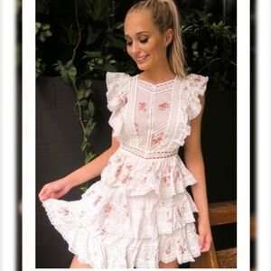 ZIMMERMANN  Heathers floral-print embroidered Dres